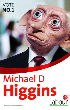 Michael D Higgins as Gollum