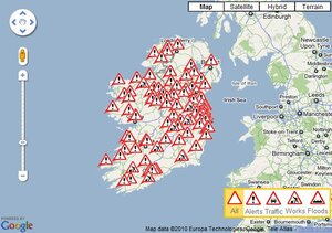 Aa Traffic Map How Does That AA Roadwatch Map Of Ireland Look Like Right Now